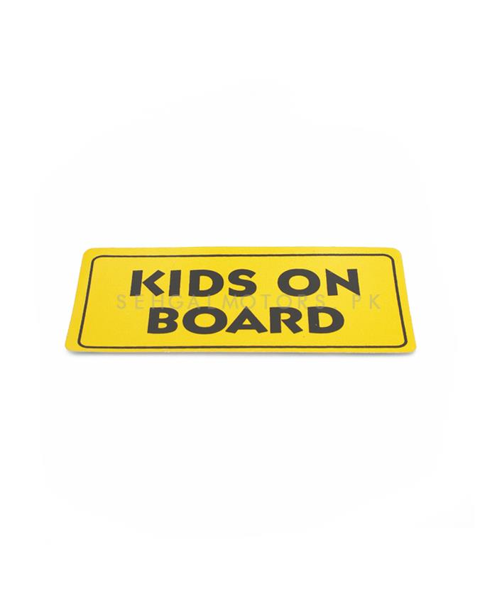 Kids On Board Warning Sticker Yellow-SehgalMotors.Pk