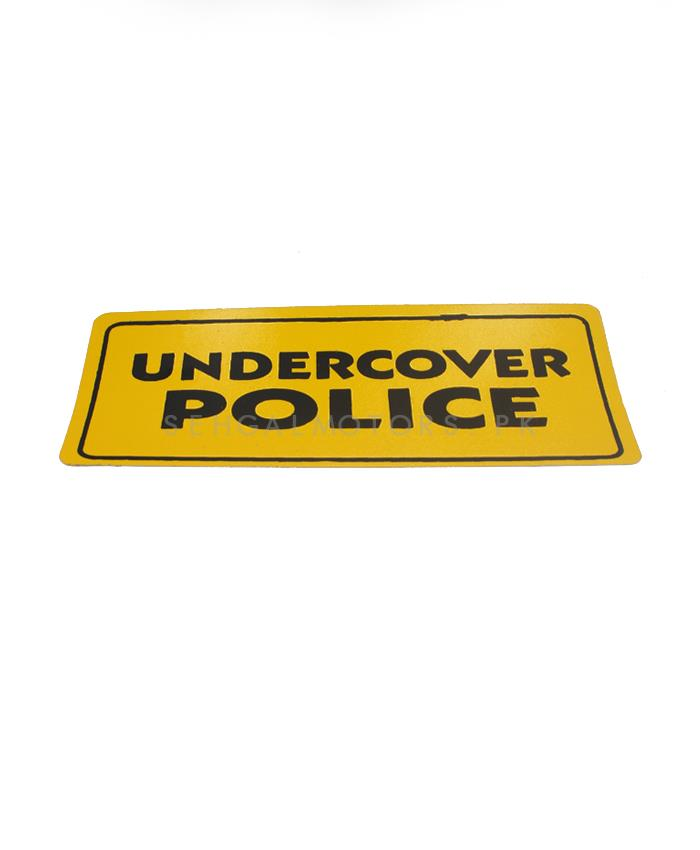 Under Cover Police Sticker Sticker-SehgalMotors.Pk