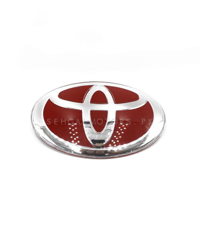 Toyota Red With Silver Logo -SehgalMotors.Pk