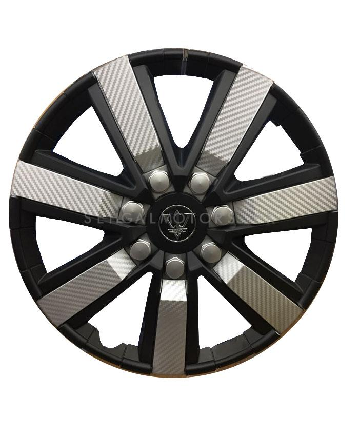 Wheel Cover ABS Black Silver 12 Inches - WG1-1SL-12-SehgalMotors.Pk