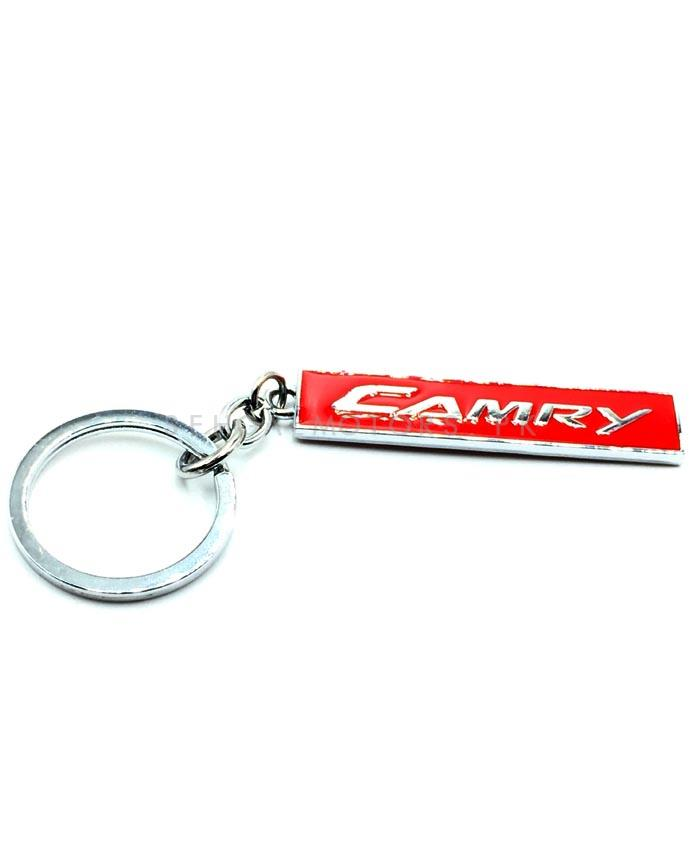 Camry Metal Key Chain / Key Ring Red Chrome-SehgalMotors.Pk