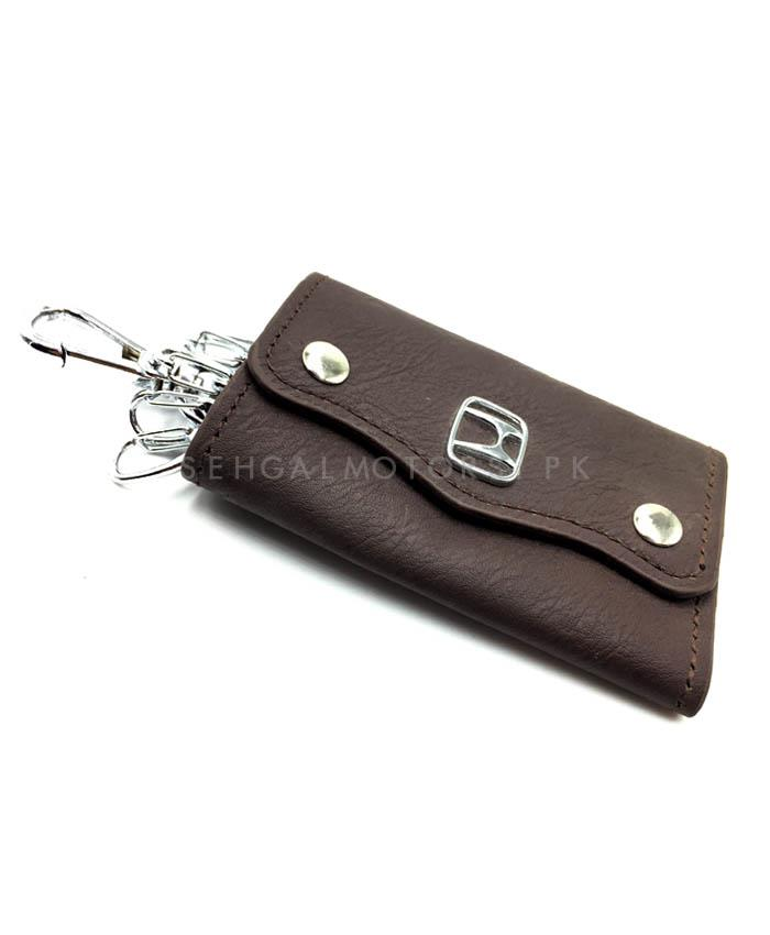 Buy Honda Leather Key Pouch With Key Chain Key Ring In