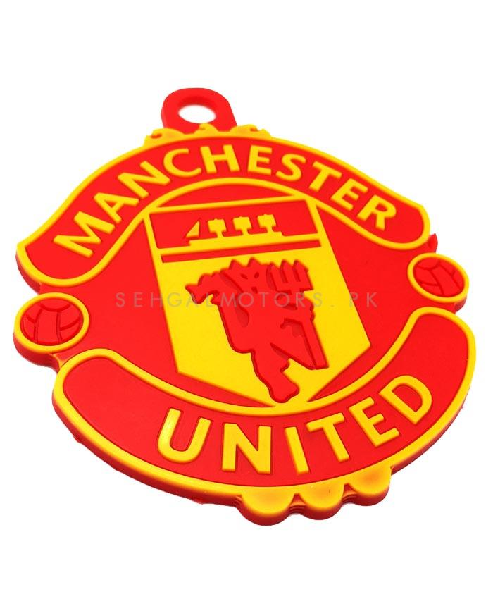 Manchester United  PVC Hanging Tag for Windshield Red Yellow-SehgalMotors.Pk