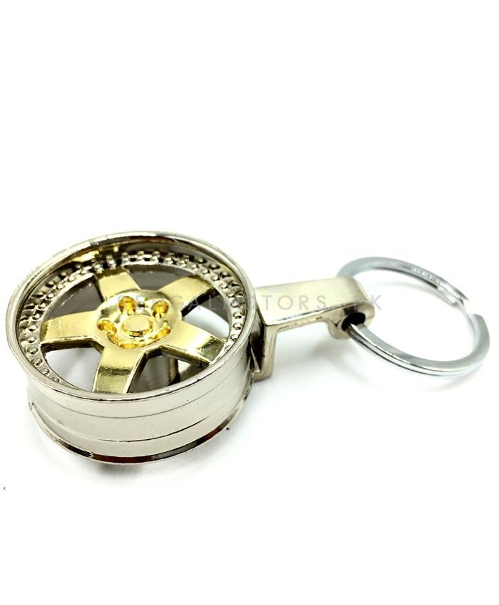 Rim Metal Key Chain / Key Ring Golden Chrome | Key Chain Ring For Keys | New Fashion Creative Novelty Gift Keychains-SehgalMotors.Pk