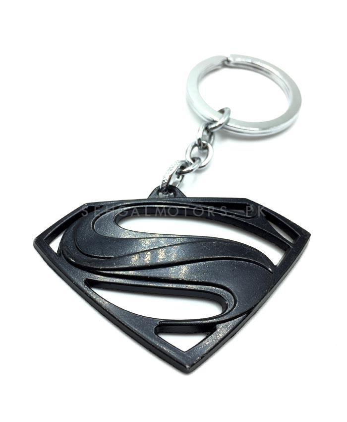 Super Man Metal Key Chain Black-SehgalMotors.Pk