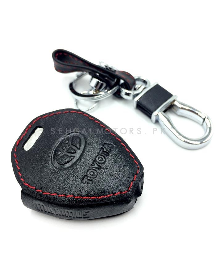 Toyota Corolla Leather Key Cover 3 Button - Model 2009-2014-SehgalMotors.Pk