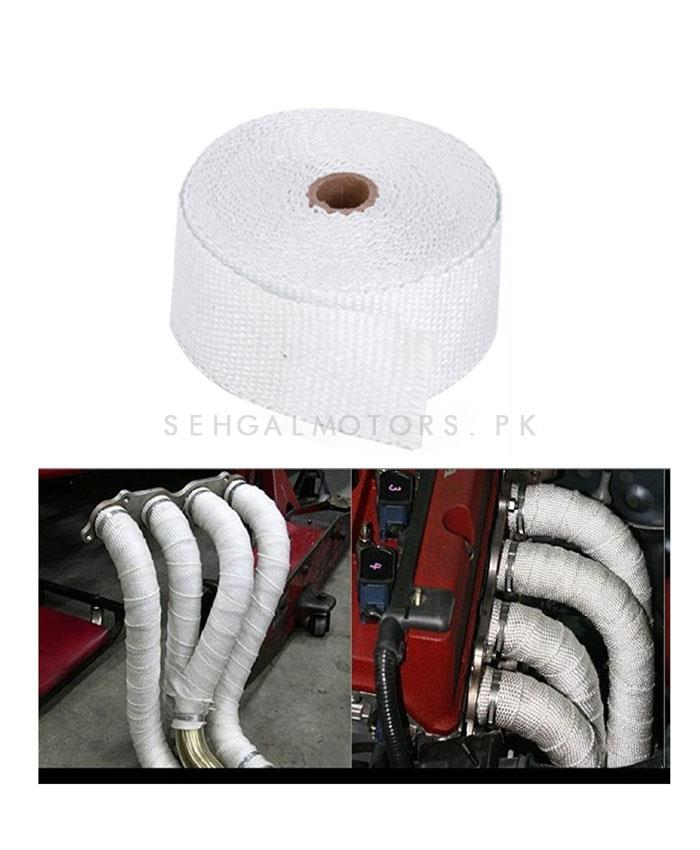 Heat Wrap Thermal For Engine and Exhaust Pipes   Car Exhaust Insulation Tapes Manifolds Heat Thermal Wrap   Motorcycle Exhaust Thermal Exhaust Tape Header Heat Wrap Resistant Down Pipe For Motorcycle Car Accessories-SehgalMotors.Pk
