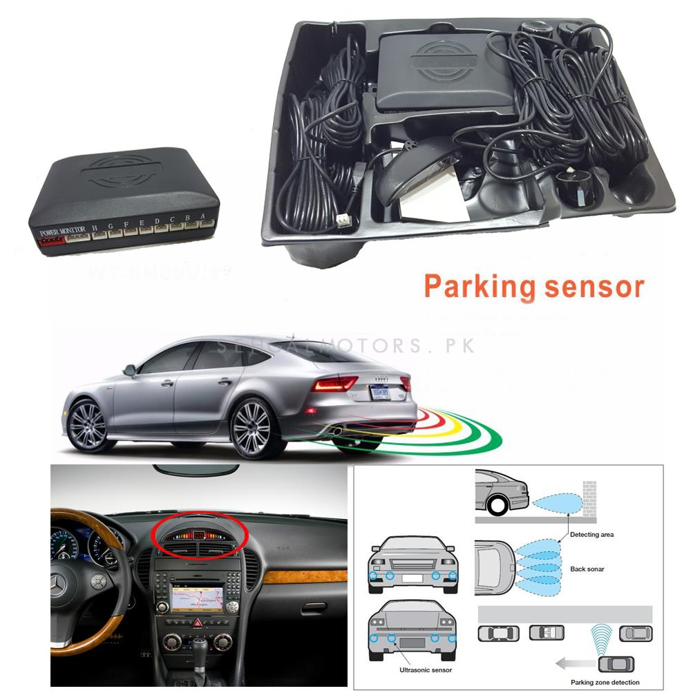 Reverse Parking Sensors detection with 6 Sensors , Buzzer and Distance Indication LCD-SehgalMotors.Pk