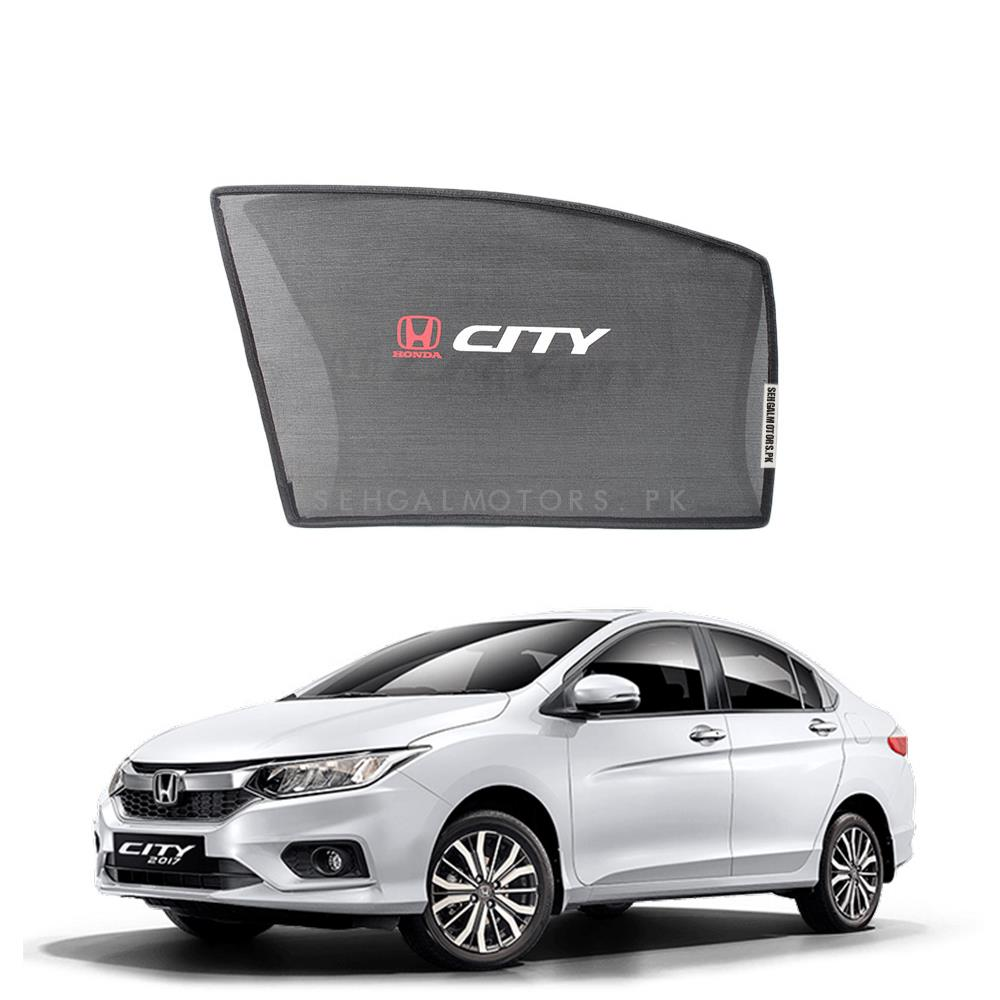 Honda City Side Sun Shade with Logo - Model 2017-2019-SehgalMotors.Pk