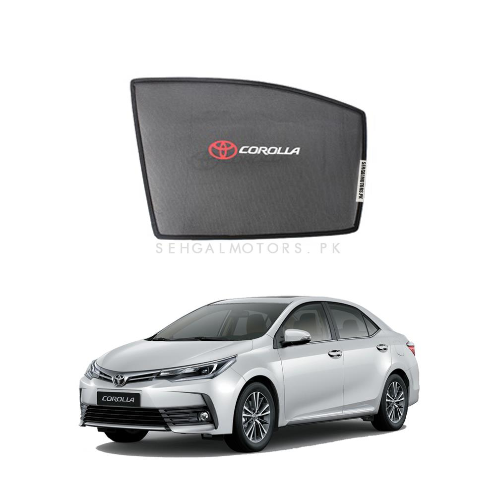 Toyota Corolla Side Sunshade / Sun Shades with Logo - Model 2017-2020-SehgalMotors.Pk