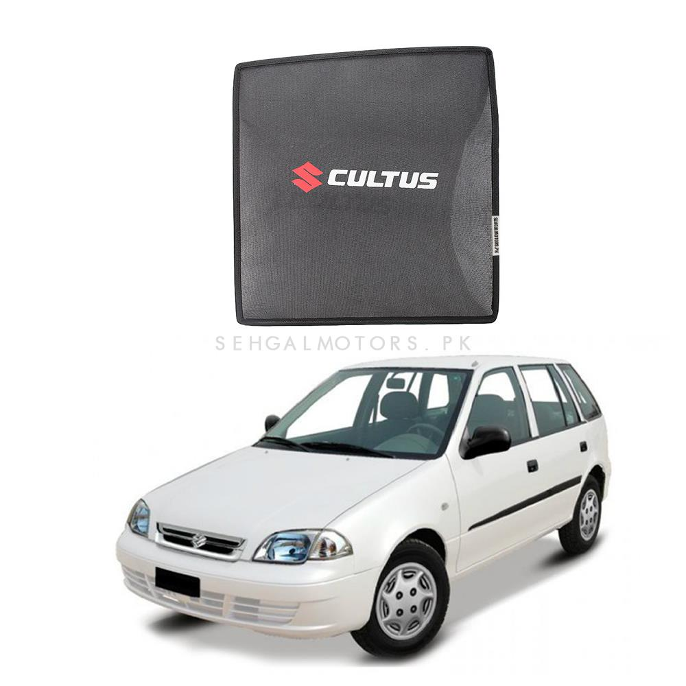 Suzuki Cultus Side Sun Shades with Logo - Old Model 2007-2016-SehgalMotors.Pk