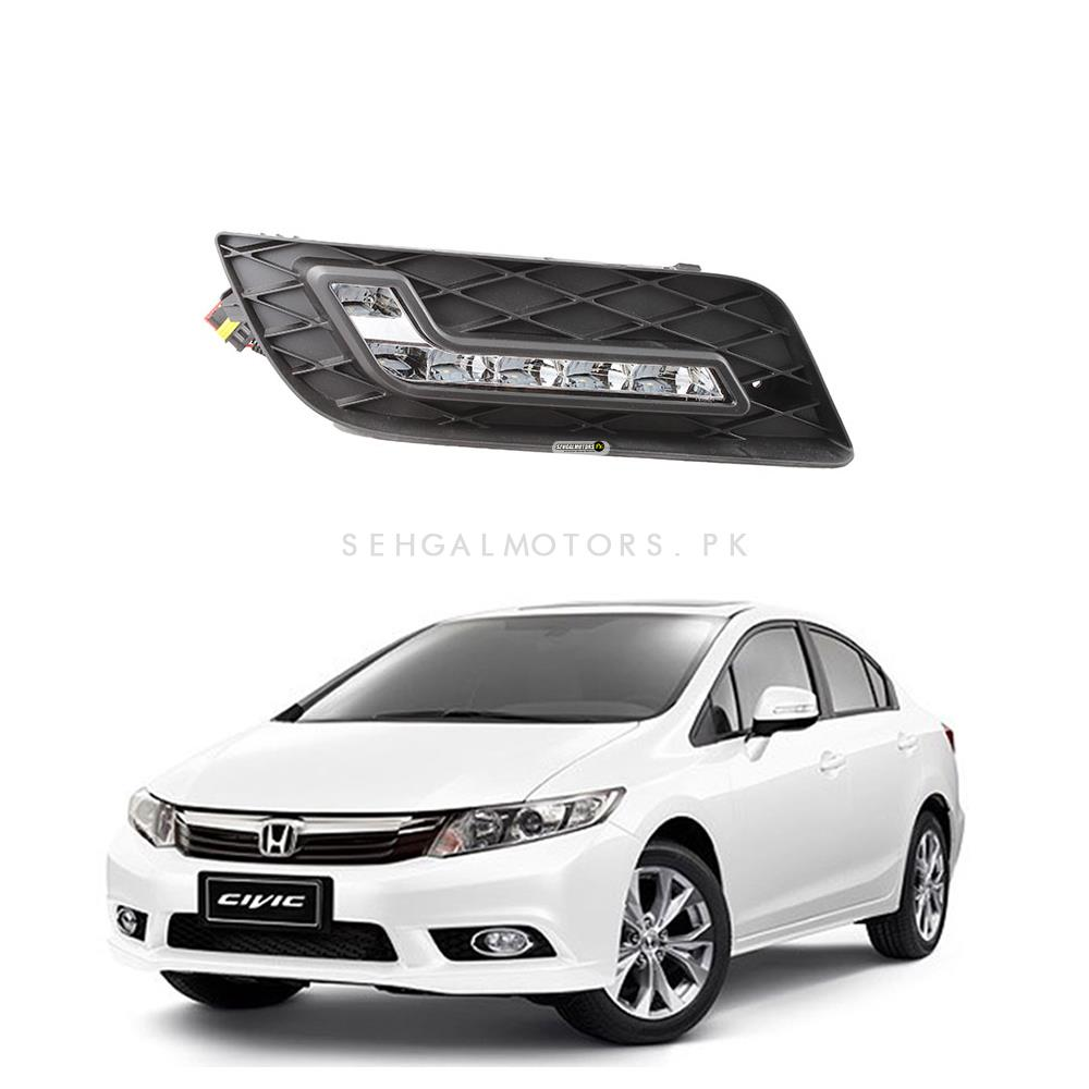 Buy Honda Civic Drl Fog Lamps Fog Lights Covers Model