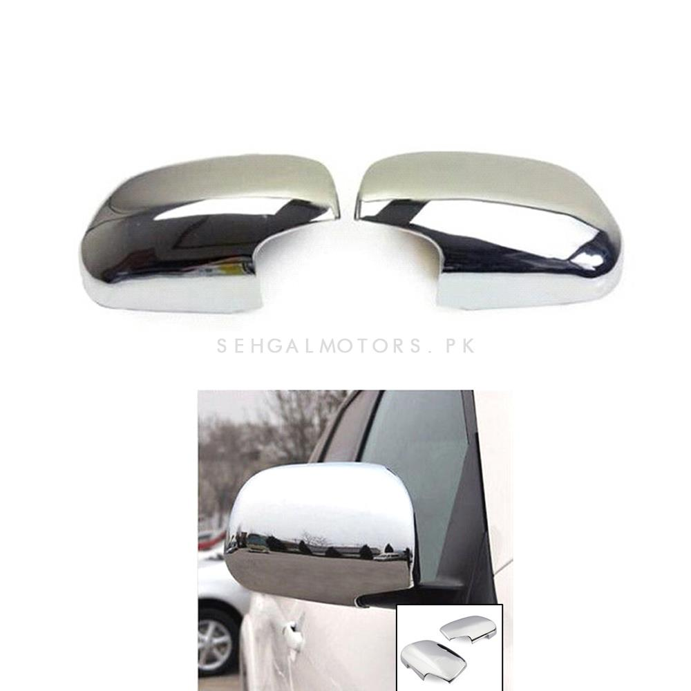 Toyota Corolla Chrome Side Mirror Covers Pair - Model 2008-2012 | Corolla Side Mirror Chrome | Chrome Cover For Corolla | Chrome Cover -SehgalMotors.Pk
