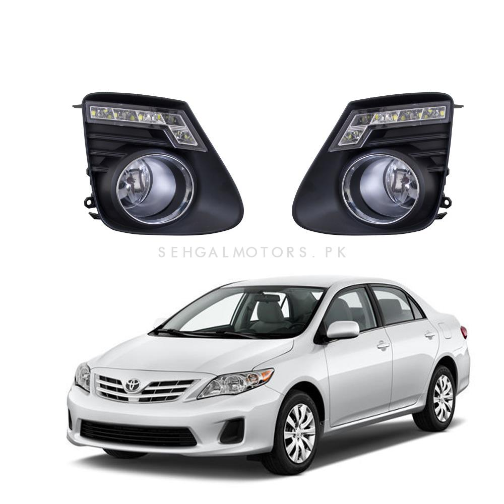 Toyota corolla led fog lamps model 2012 2014 ty472 sehgalmotors pk
