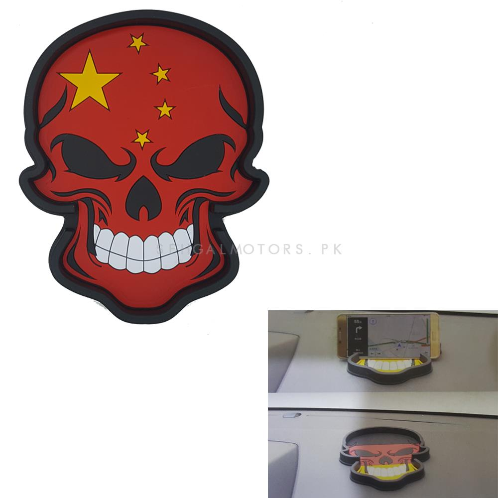 China Flag Skull Style Dashboard Non Slip / Anti-Skid Mat-SehgalMotors.Pk
