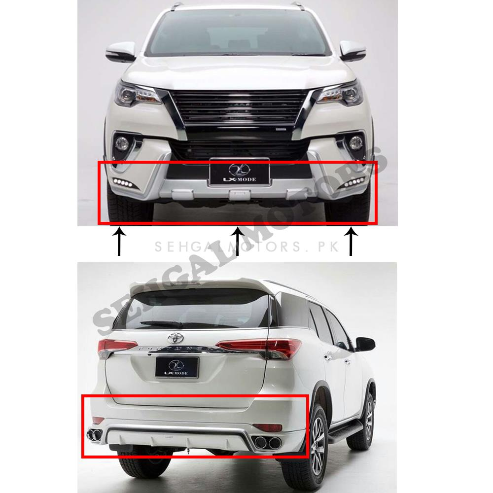 Toyota Fortuner Lx Mode Body Kit / Bodykit White- Model 2016-2020-SehgalMotors.Pk