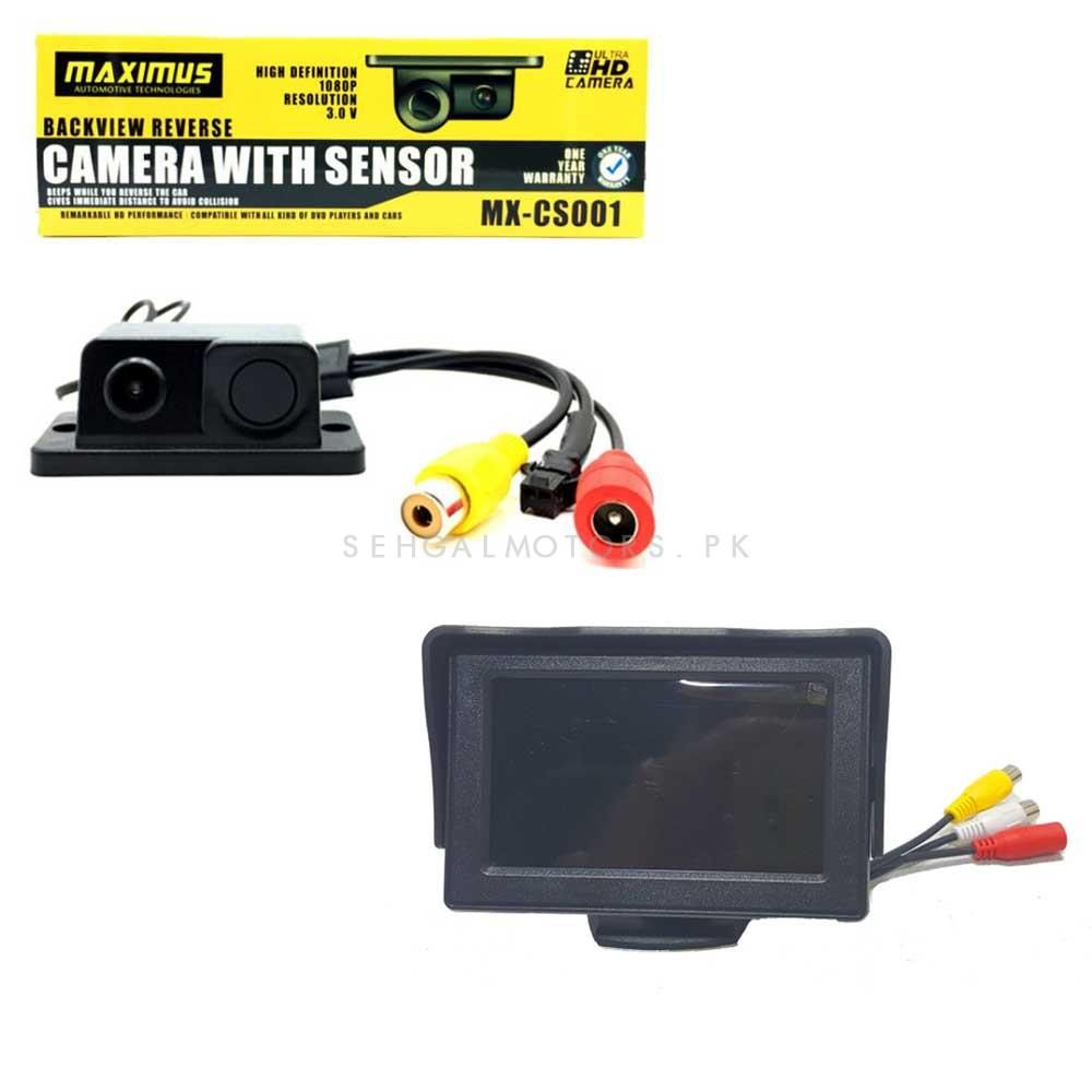 Maximus Reverse Camera Parking Sensor with LCD-SehgalMotors.Pk