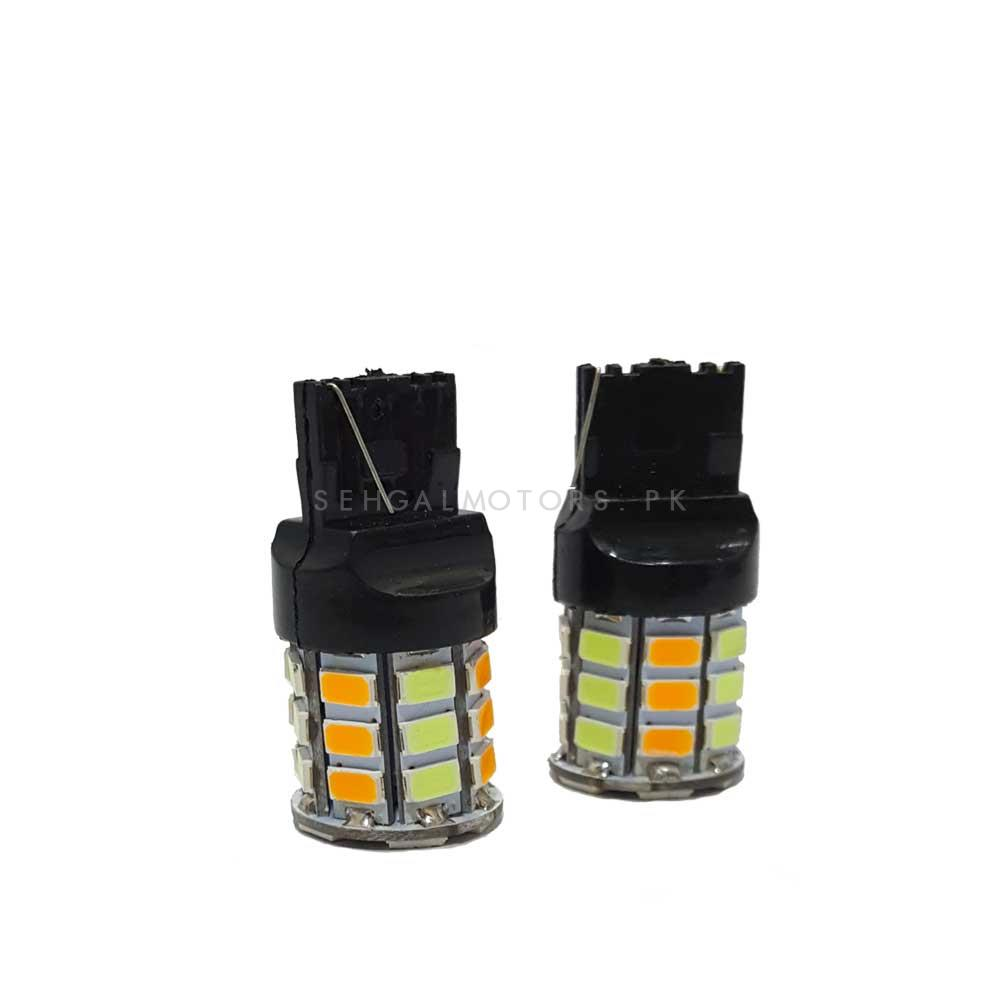 Dual Indicator Fish Type Parking SMD LED Bulbs-Pair-SehgalMotors.Pk