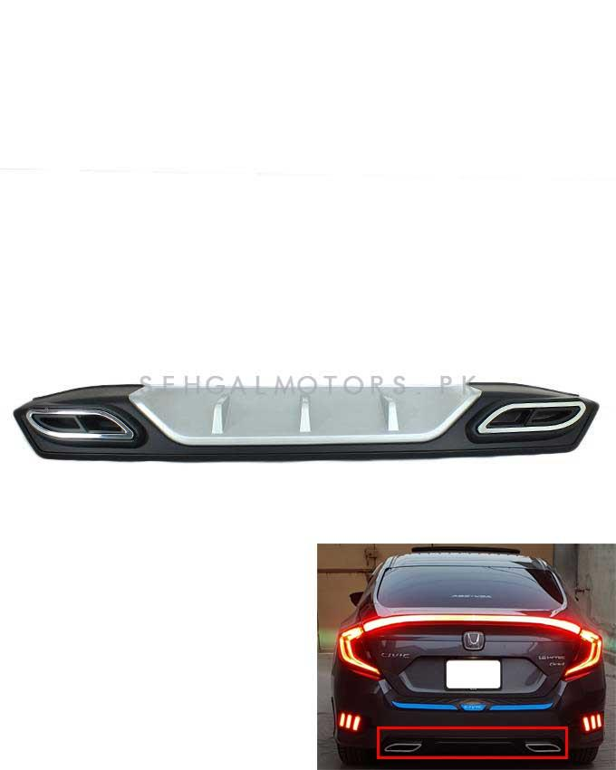 Honda Civic Bumper Diffuser Mercedes Style - Model 2016-2020-SehgalMotors.Pk