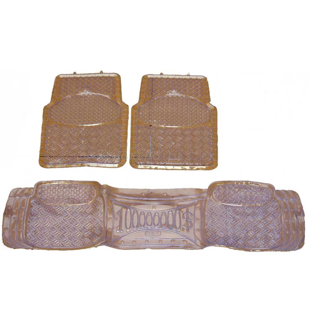 Universal Silicone Opaque 3 Pieces Floor Mats-SehgalMotors.Pk