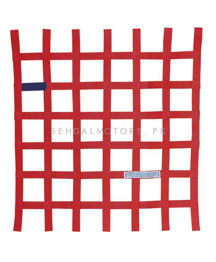 Car Safety Window Net Racing Drifting Rally Car Window Net Protector Red-SehgalMotors.Pk