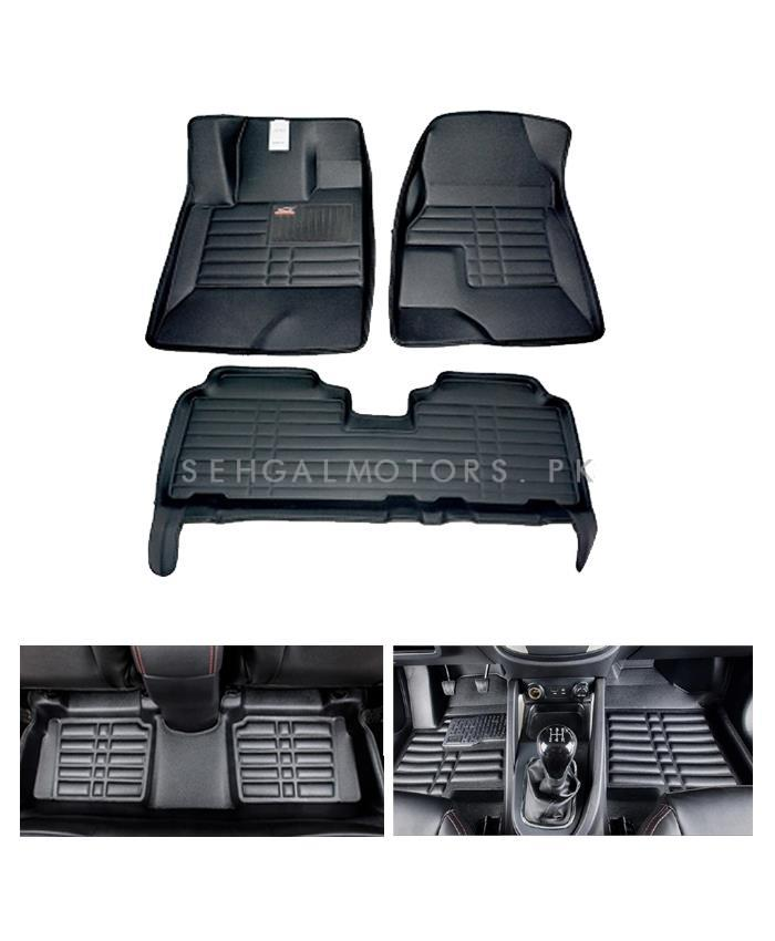 Honda Fit 5D Custom Floor Mat Black   Model 2013 2017 SehgalMotors.Pk