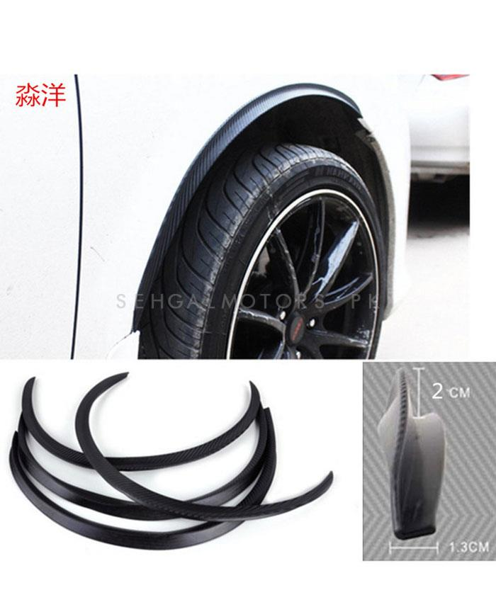 D2 Fender Moulding Universal - 2PC | Car Arch Wheel Fender Flare Extension Protector Lip Anti-Scratch Soft Strip Wheel Lip Fender Flares Car Styling-SehgalMotors.Pk