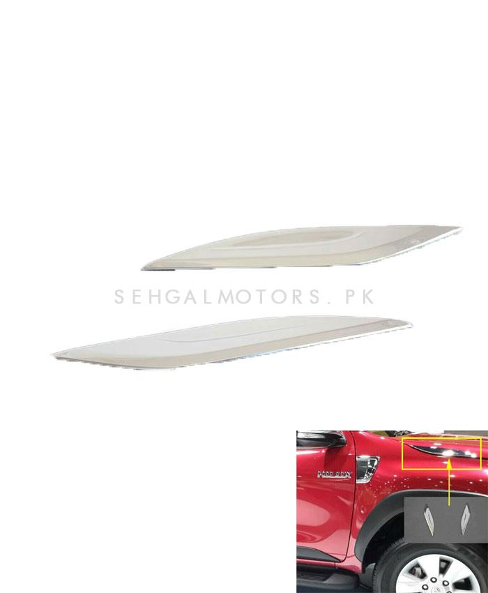 Toyota Hilux Revo Chrome Side Vent Trim - Model 2016-2019	-SehgalMotors.Pk