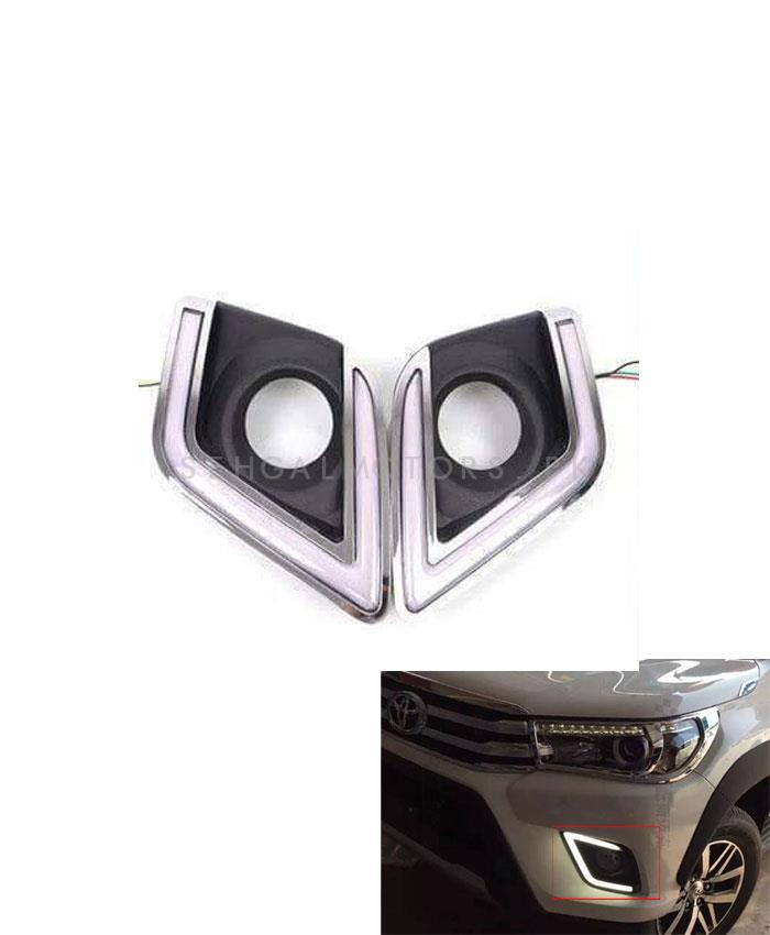 Toyota Hilux Revo Fog Lamp DRL Covers - Model 2016-2019-SehgalMotors.Pk