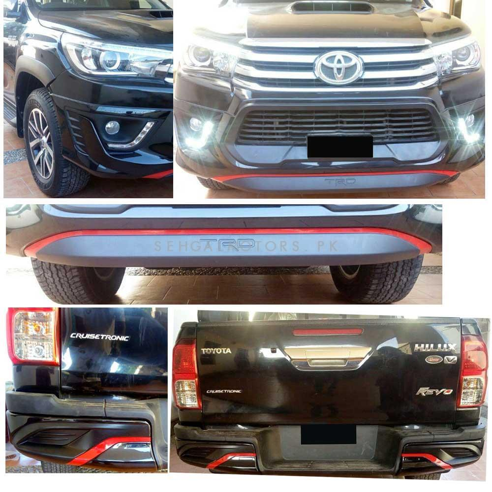 Color : CARBON FIBER ZhengELE ABS Chrome Tail Lights Cover for Toyota Hilux Revo Rocco 2016 2017 2018 2019