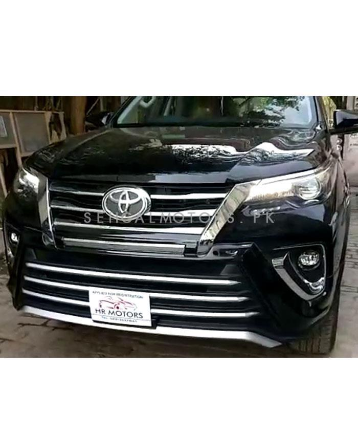Toyota Fortuner Zigma / Sigma Style Body Kit / Bodykit Thailand 2 Pieces Black Version 1- Model 2017 - 2018 -SehgalMotors.Pk