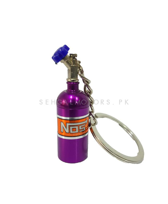 NOS Can Cylinder Shape Key Chain / Key Ring - Purple   Key Chain Ring For Keys   New Fashion Creative Novelty Gift Keychains-SehgalMotors.Pk