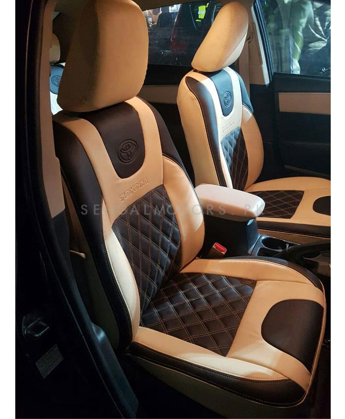 Buy Toyota Corolla Seat Covers Beige And Black In Pakistan