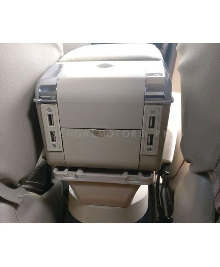 Honda BRV 6 Usb Custom Fit OEM Original Style Arm Rest Beige - Model 2017-2019-SehgalMotors.Pk