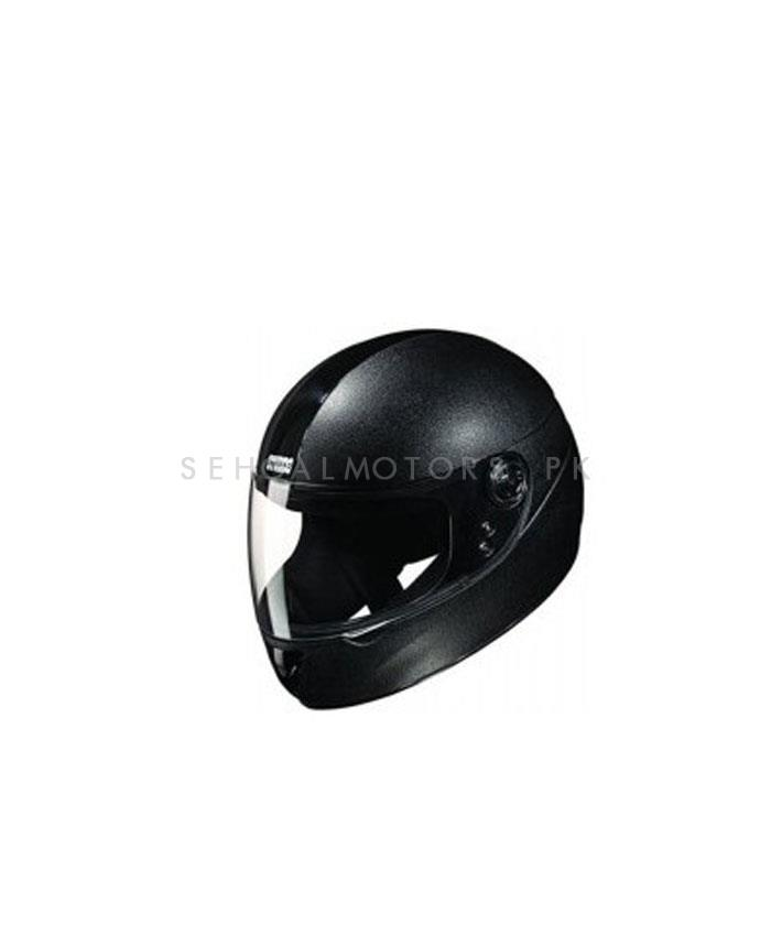 Studds Decor Full Black Helmet-SehgalMotors.Pk
