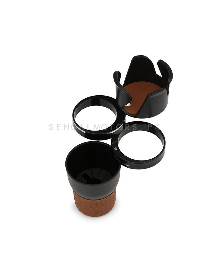 Multifunctional Portable Car Ashtray For Smokers Cup Holder Black Beige-SehgalMotors.Pk