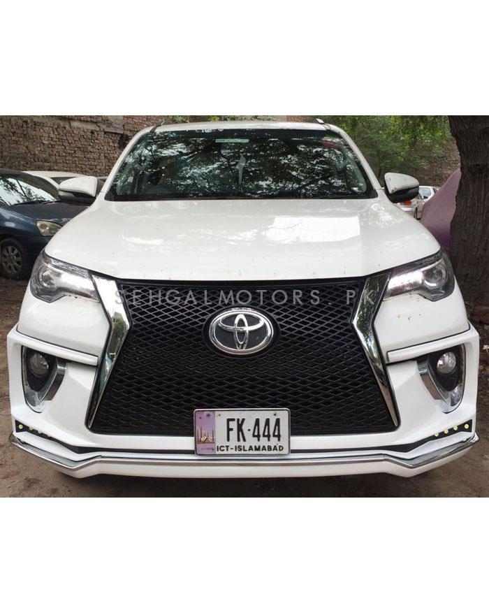 Toyota Fortuner Body Kit Lexus Style 2 Pcs White - Model 2016-2019-SehgalMotors.Pk