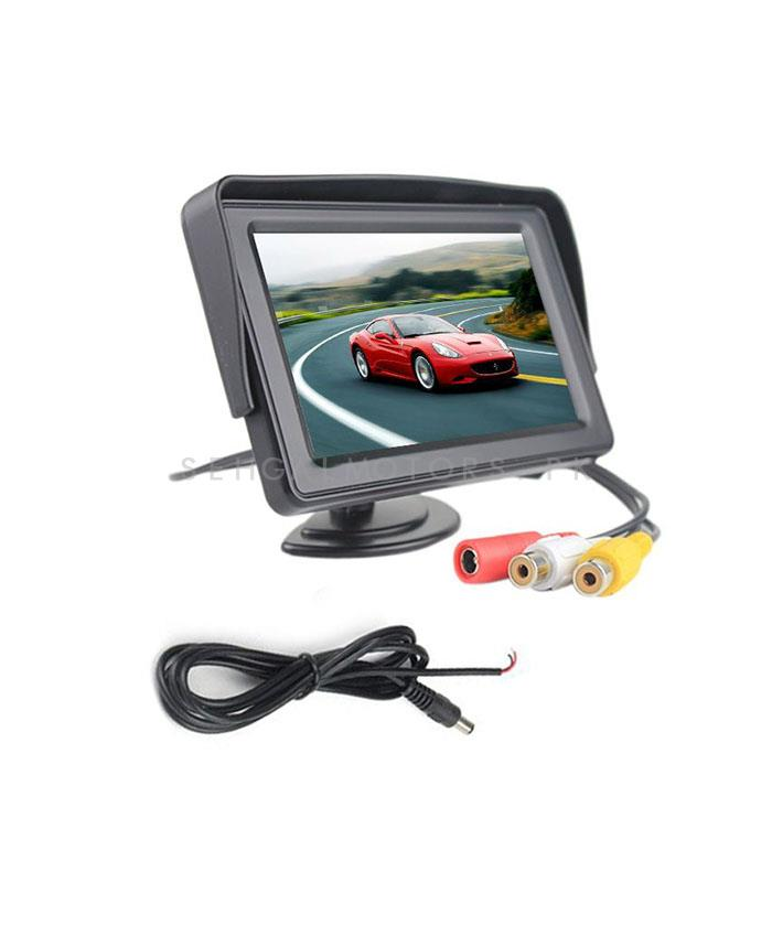 TFT Security Small LCD Audio Video Display For Car Dashboard 4inch-SehgalMotors.Pk