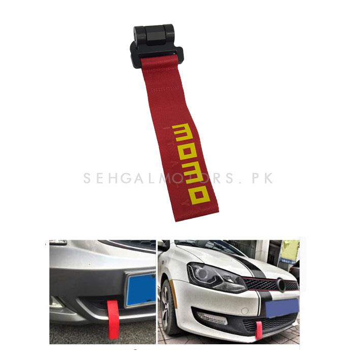 Momo Strap Tow Hook - Red	-SehgalMotors.Pk