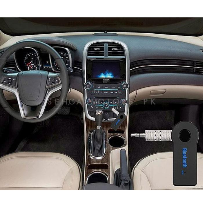 Car Aux Bluetooth Transmitter For Music and Calls-SehgalMotors.Pk