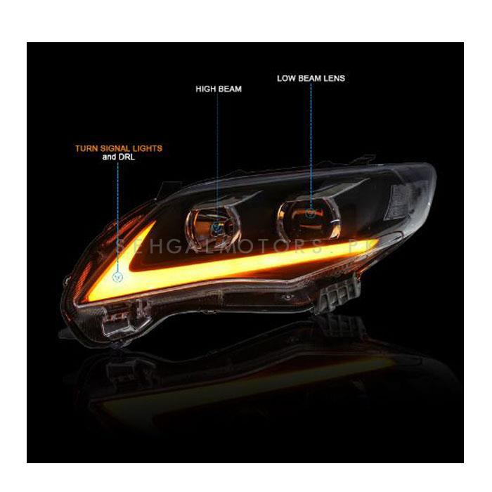 Toyota Corolla NIKE Style Headlights / Head Lamps - Model 2014-2017-SehgalMotors.Pk