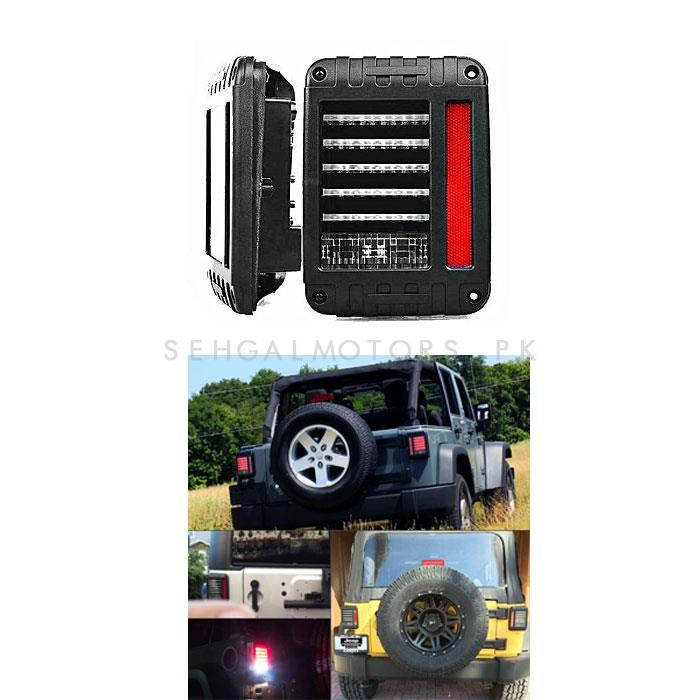 Wrangler Jeep Tail Lamps LED With Side Reflectors-SehgalMotors.Pk