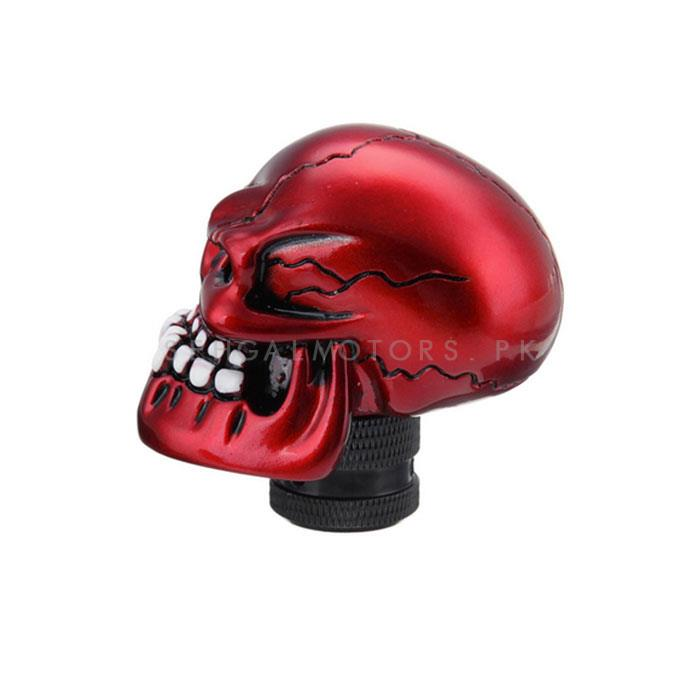 Skull Gear Knob - Red-SehgalMotors.Pk