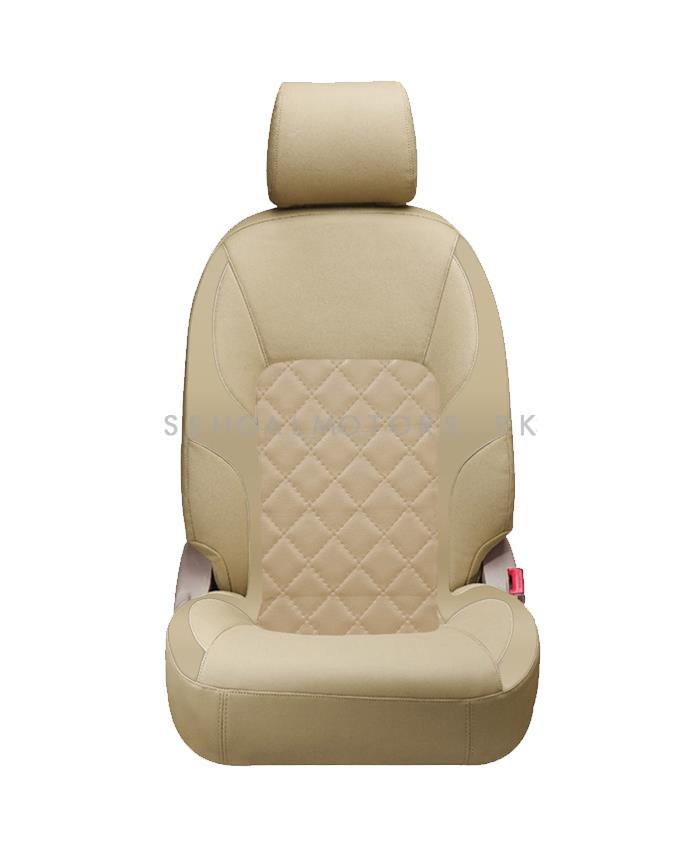 Toyota Prado Seat Covers Beige - Model 2009-2019-SehgalMotors.Pk