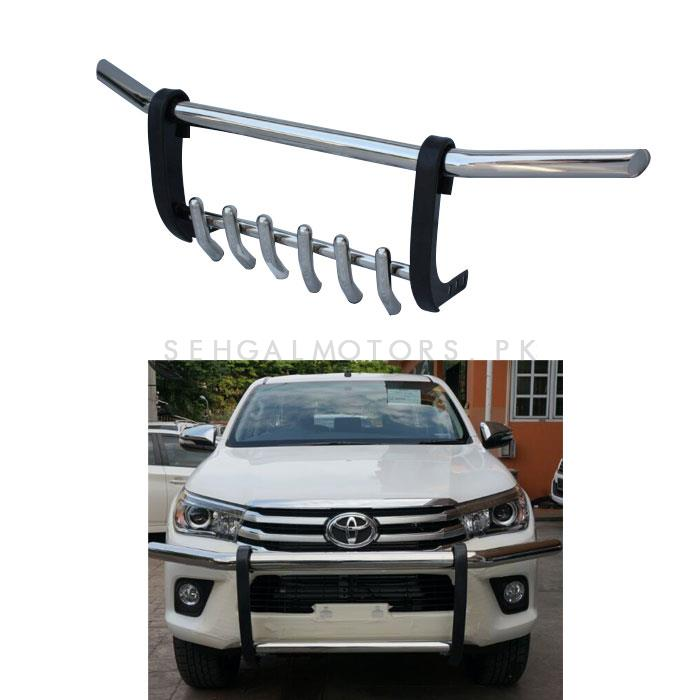 Toyota Revo Stainless Steel Front Bull Bar- Model 2016-2019	-SehgalMotors.Pk