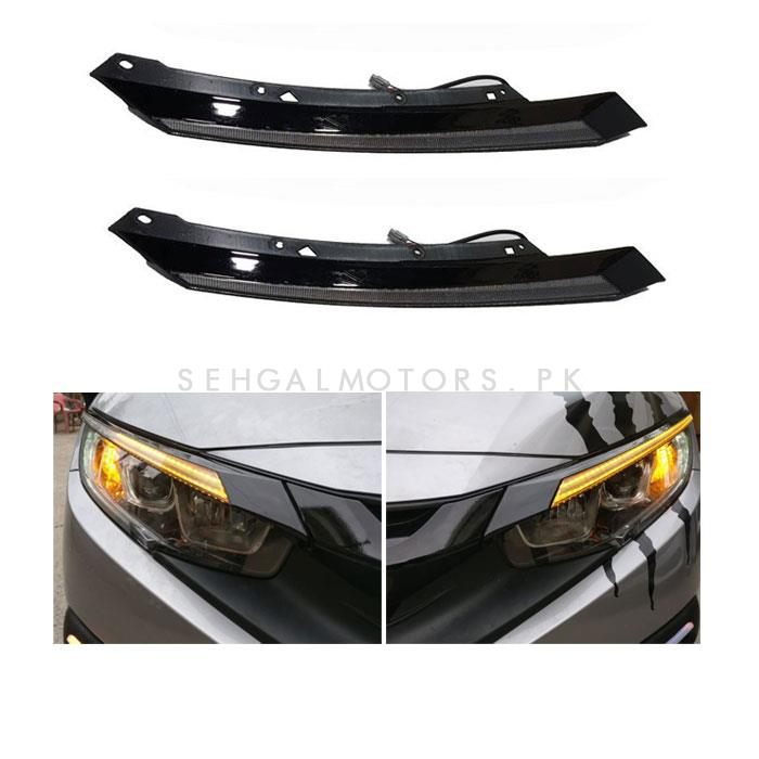 Honda Civic Headlight / Head Lamp Light Eyebrow Light - Model 2016-2021	-SehgalMotors.Pk