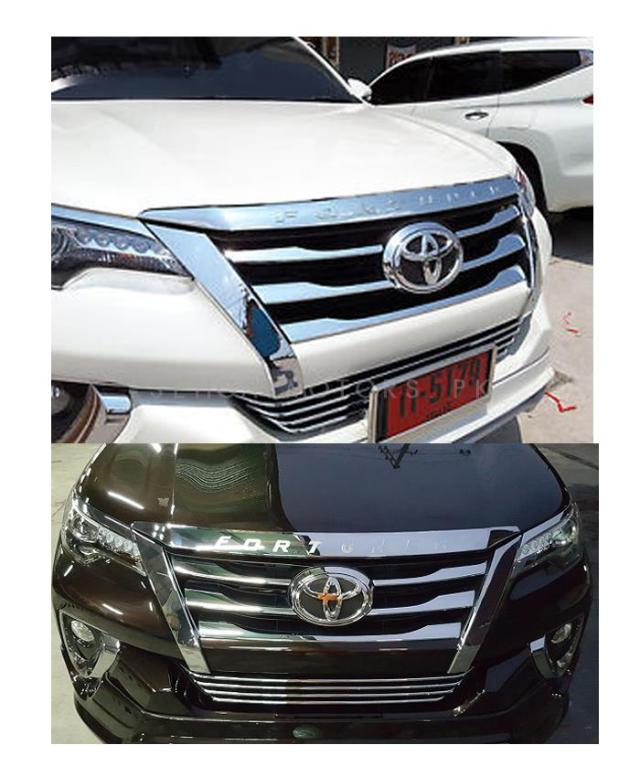 Toyota Fortuner Hood Chrome Garnish - Model 2016-2019-SehgalMotors.Pk