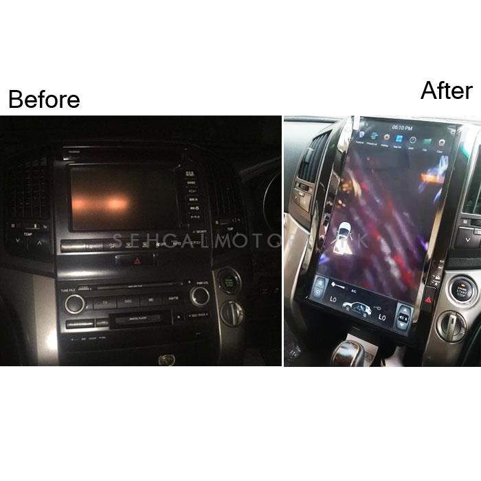 Toyota Land Cruiser AX LCD Multimedia System Tesla Style with 3 Cameras - Model 2010-2014-SehgalMotors.Pk