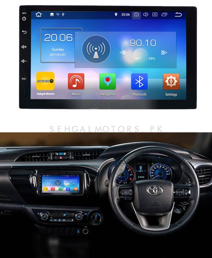 Toyota Hilux Revo Android LCD Multimedia Navigation System - Model 2014-2017-SehgalMotors.Pk