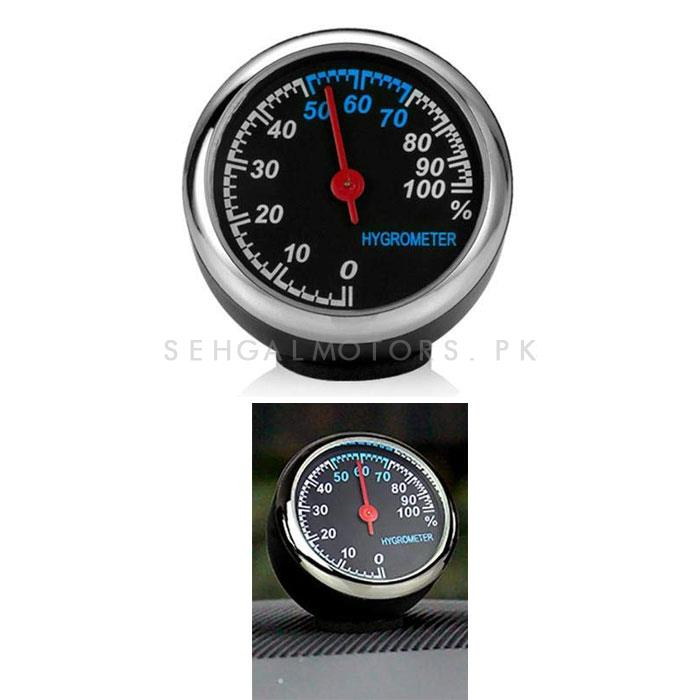 Car Digital Hygrometer Clock To Measure The Amount Of Humidity And Water Vapour In The Atmosphere-SehgalMotors.Pk